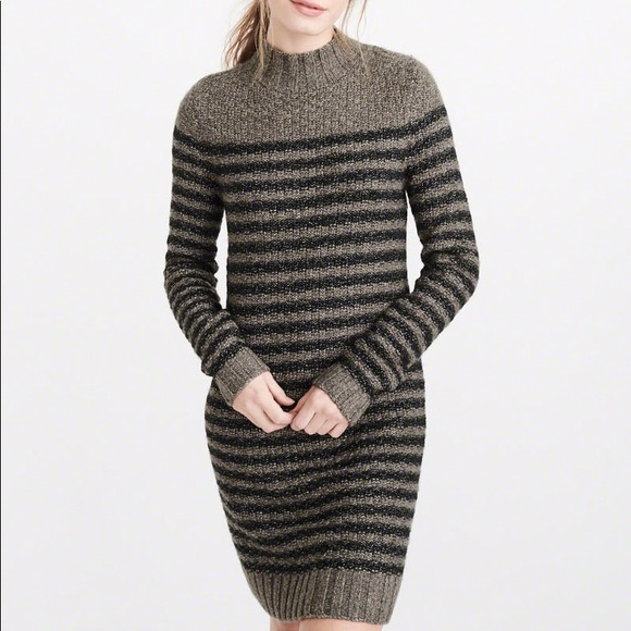 7d0cc6688f Abercrombie   Fitch mock neck sweater dress.